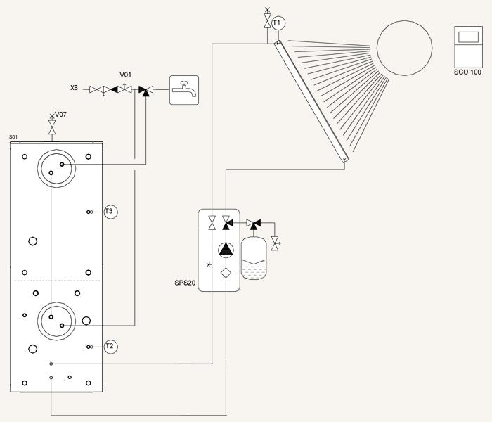 shema-dla-montazha-teploakkumulatora-gtv-teknik-k-solnechnym-kollektoram
