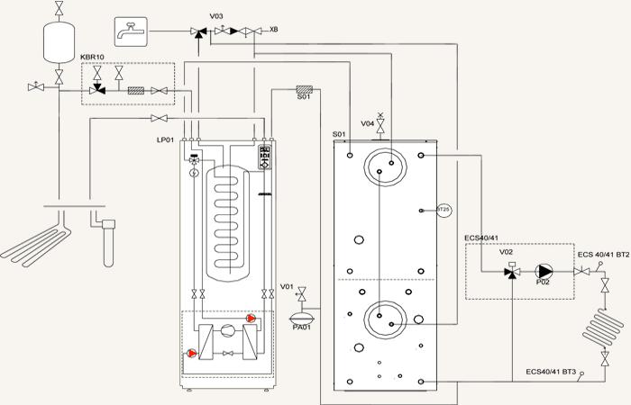 shema-dla-montazha-teploakkumulatora-gtv-teknik-k-teplovomu-geotermal-nasosu